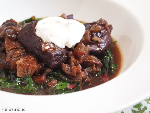 ... Beef Short Rib Recipe with Sautéed Swiss Chard & Horseradish Cream