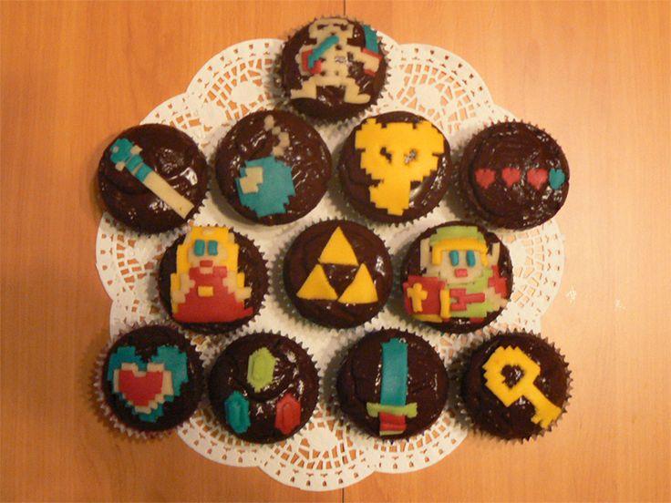 Zelda cupcakes by ~nenco on deviantART