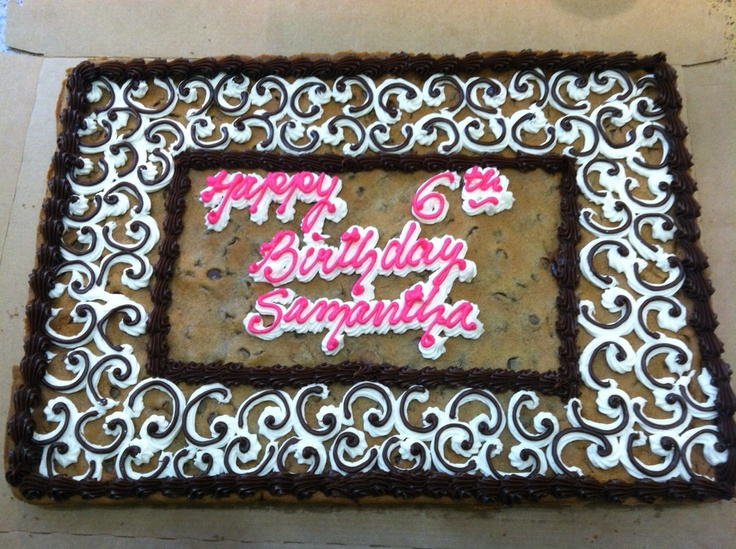 Cookie Cake Designs For Birthday : Happy Birthday Cookie Cake! #cookie #cookiecake #cake # ...