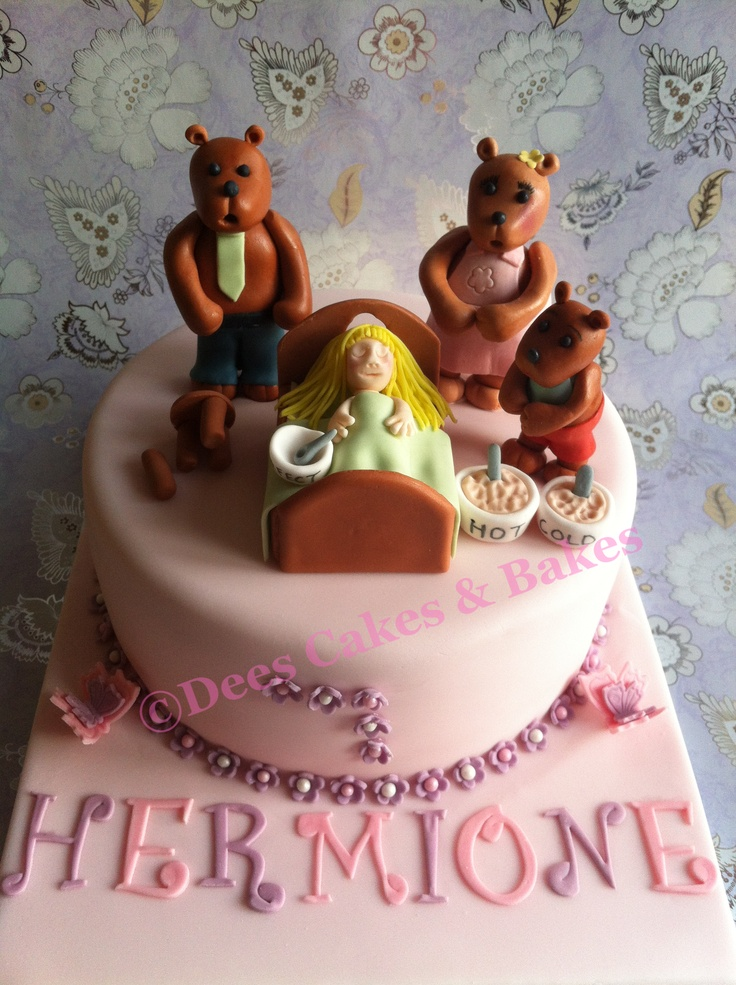 Goldilocks & the 3 Bears cake My Cakes Pinterest