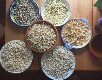 Truffle Sea Salt Popcorn, Curry & Red Pepper Popcorn, Parmesan &Black...