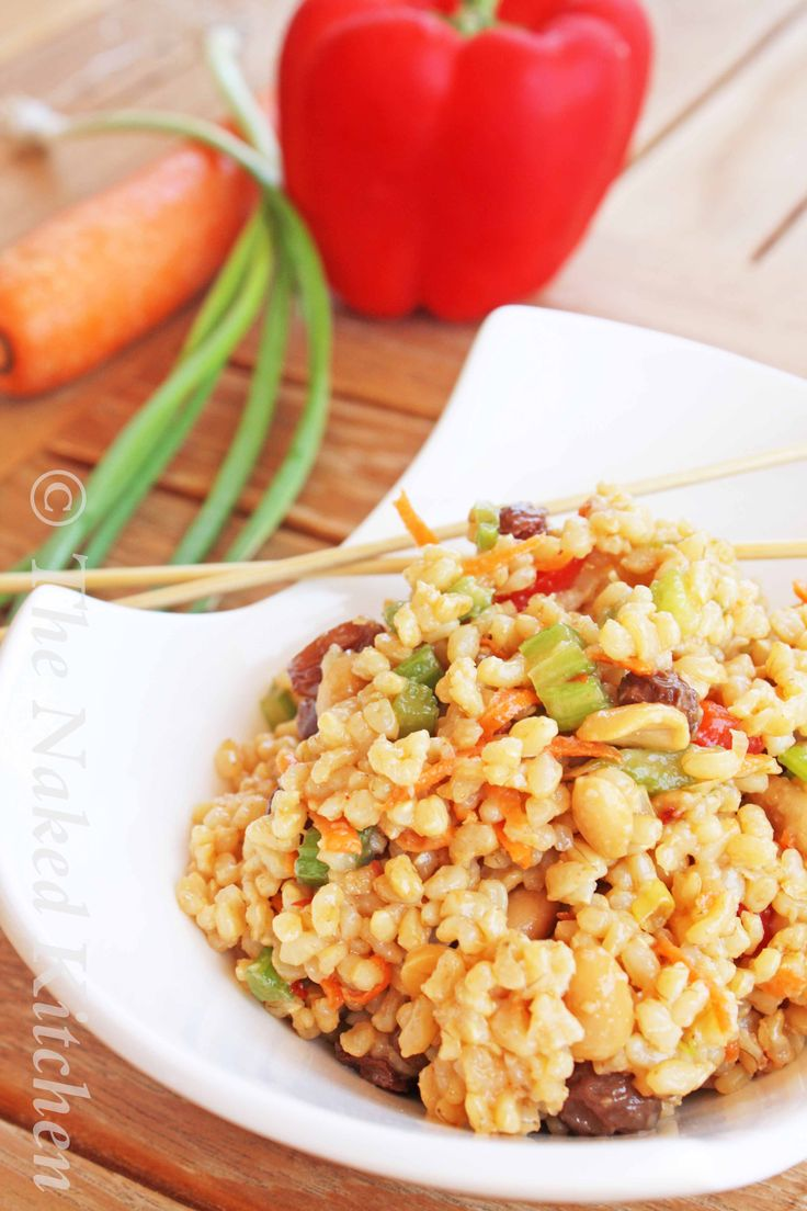 Spicy Thai Rice Salad | Tasty Dinner | Pinterest