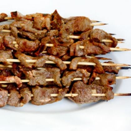 satay with spicy peanut sauce grilled beef satay with spicy peanut ...