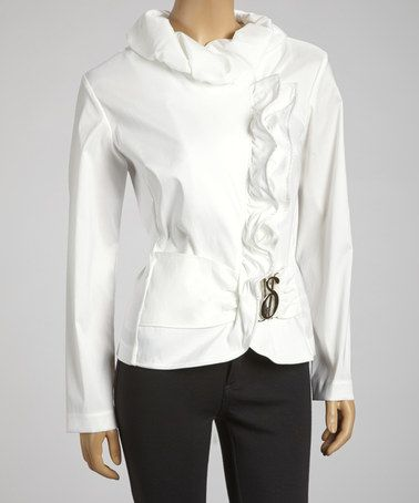 Buy White Ruffle Jacket at wholesale prices, with great shipping rates and fast shipping time! Make humorrmundiall.ga your one-stop online retailer.