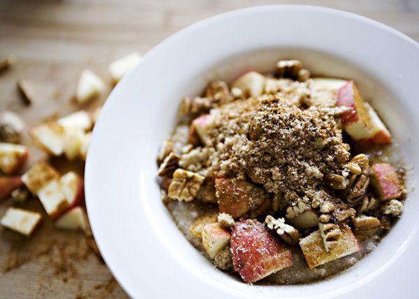 overnight irish oatmeal with apples, etc.