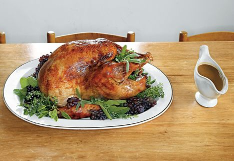 Roast Heritage Turkey with Bacon-Herb and Cider Gravy | Recipe