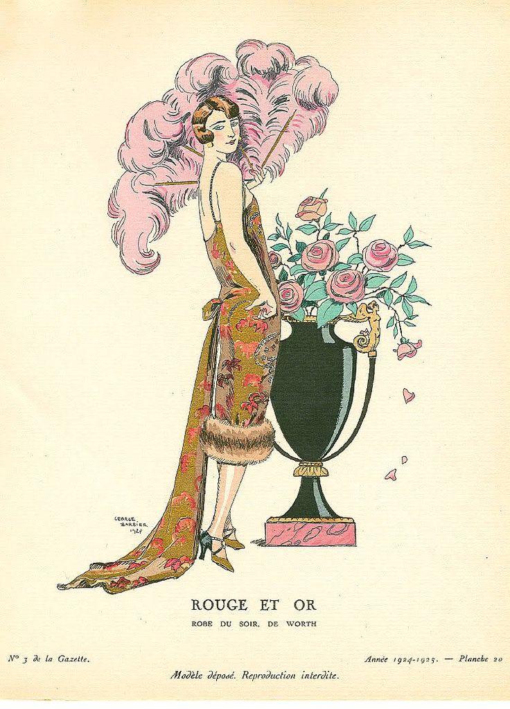 Art deco fashion illustration 1920 1930 crazy 20 39 s for Art deco illustration
