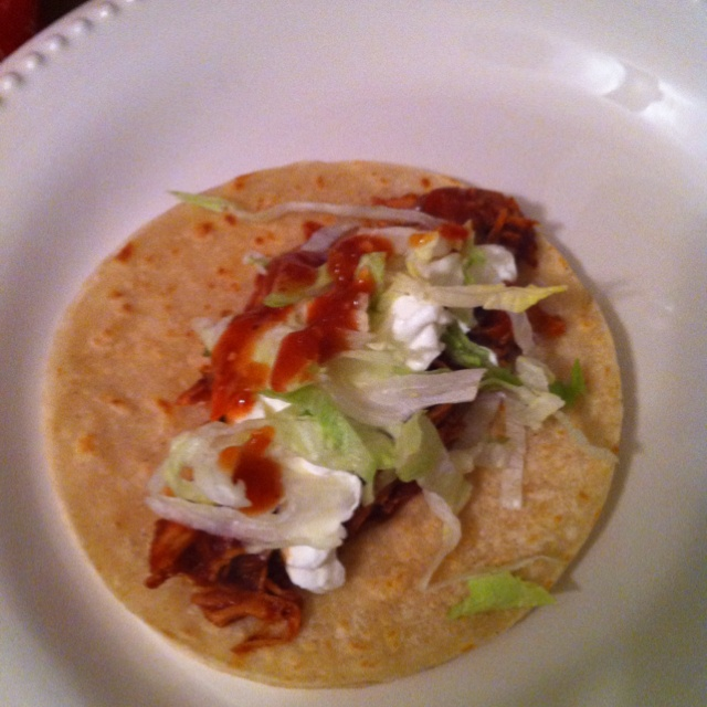 Chicken (in crock pot) tacos | Favorite Recipes | Pinterest