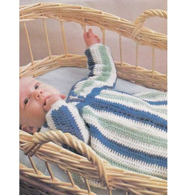 Crochet baby sleep bag pattern/all crafts