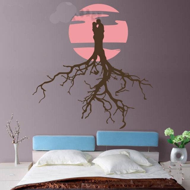 Slaapkamer Nina Neyt : muurdecoratie stickers slaapkamer : Moon Nature ...