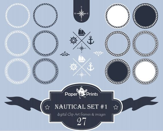 Nautical, nautical clipart, nautical clip art, nautical clipart frames ...