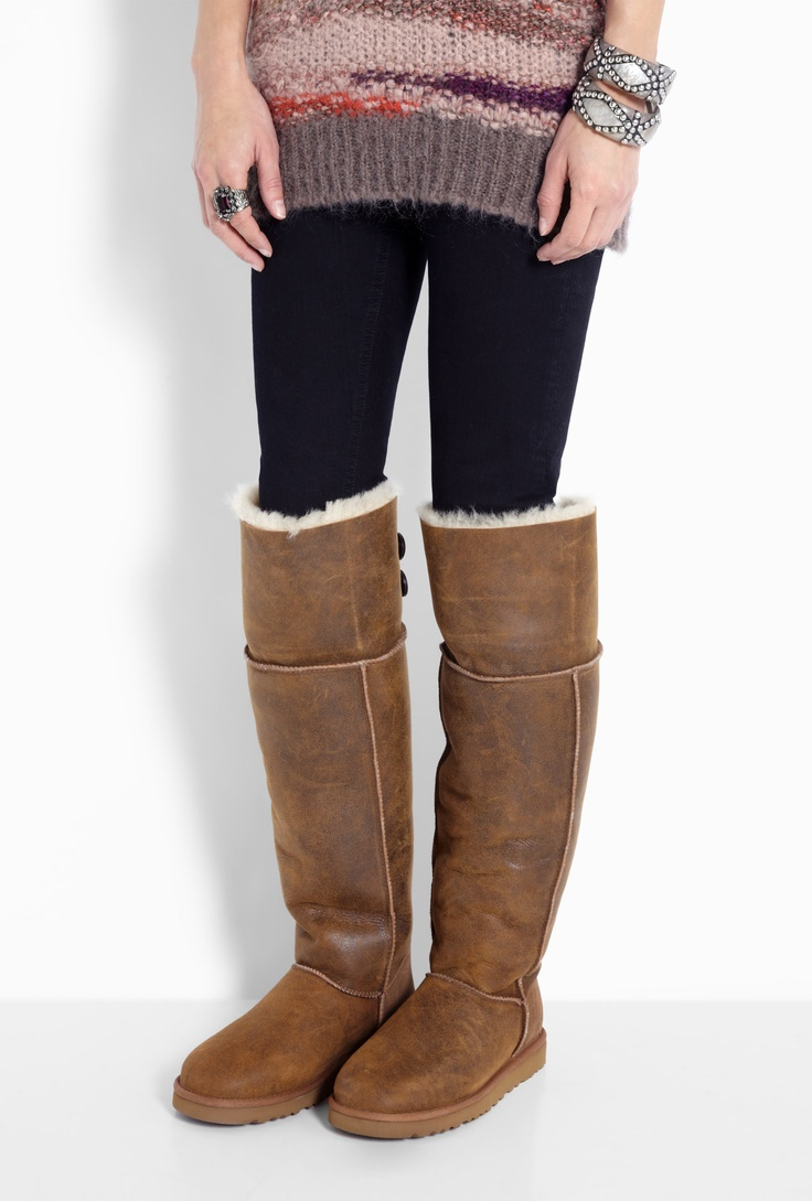 bailey button uggs over the knee