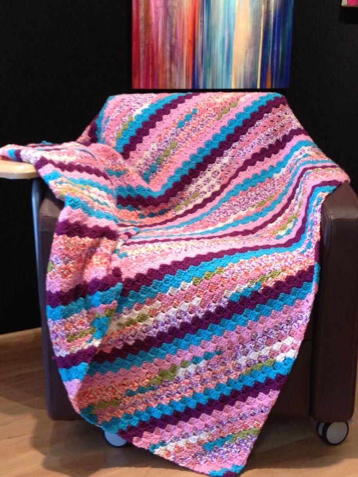 Crochet Afghan Pattern Variegated Yarn : Pin by Joyce Harriger on Crochet or Knit afghans Pinterest