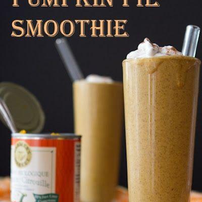 Pumpkin Pie Smoothie for two @keyingredient #vegetarian #pie #vegan