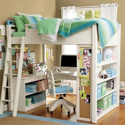 mini office under the bunk bed my room pinterest