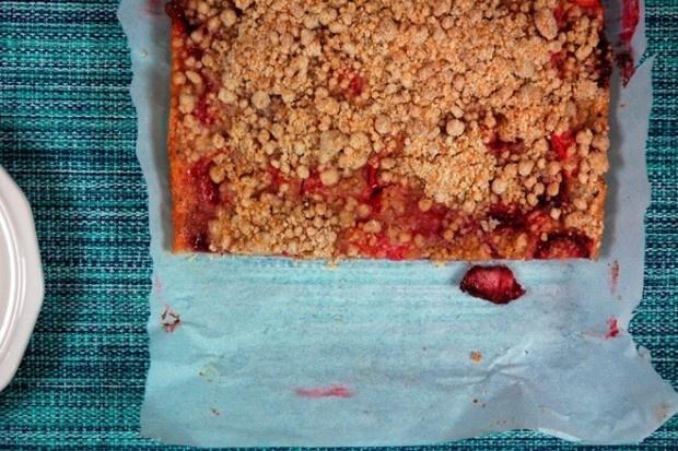 Smitten Kitchen's Rhubarb Snacking Cake, veganized!