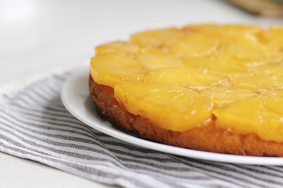caramelized pineapple upsidedown cake   food   Pinterest