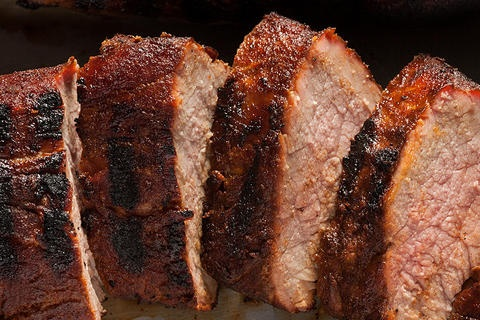 Coffee-Rubbed Grilled Pork Tenderloin. rub also includes brown sugar ...