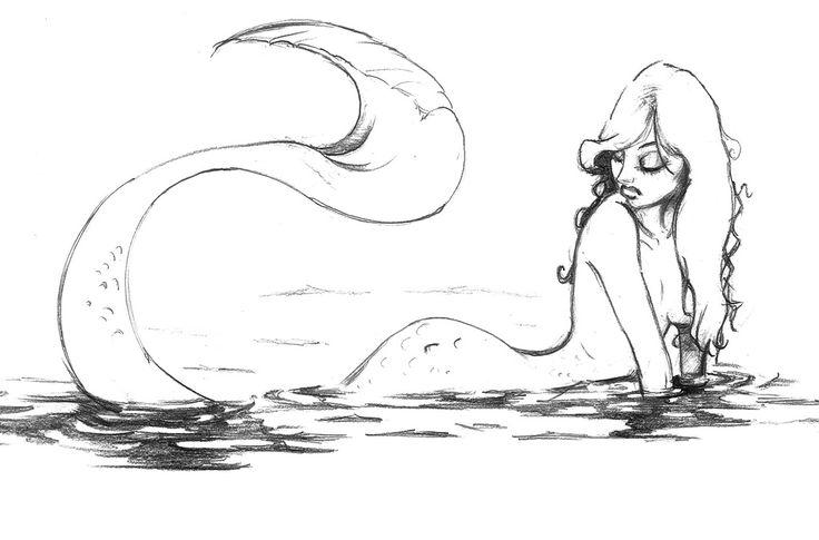 mermaid sketch Mermaid Sketch