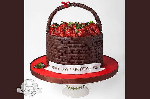 Strawberry Basket Cake | Cakes (sugar Craft) | Pinterest