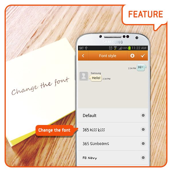 how to change font in hike messenger