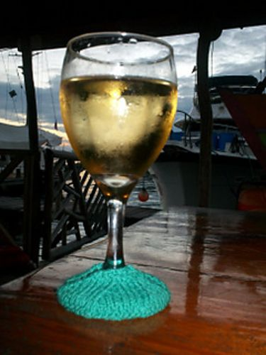Ravelry: Wine Glass Slip-on Coaster pattern by Terry Morris