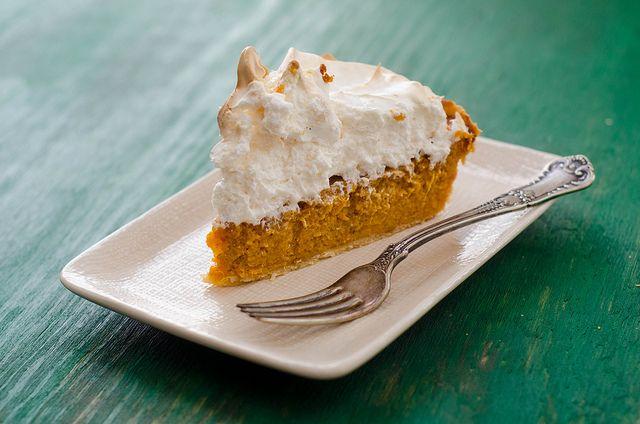 Sweet Potato Pie with Marshmallow-Meringue Topping
