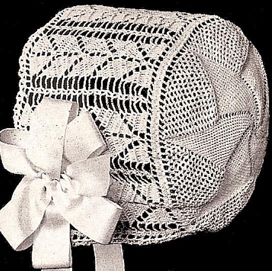Antique Baby Bonnet Crochet Pattern Crochet patterns ...
