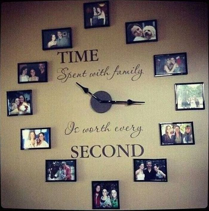 picture frame clock crafts pinterest