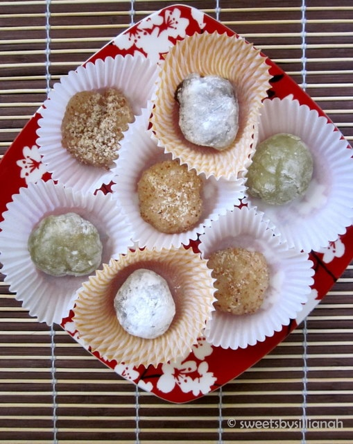 is a soft Japanese dessert made basically with glutinous rice paste ...