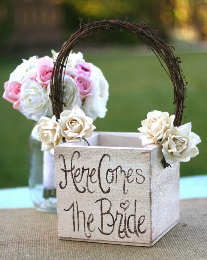 Flower Girl Baskets On Pinterest : Flower girl basket ideas wedding