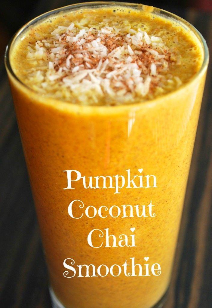 ... of pumpkin in Caroline's Delicious Pumpkin Coconut Chai Smoothie