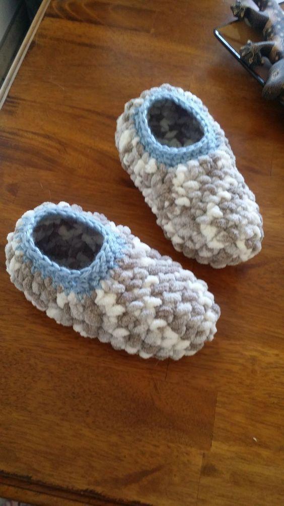 Sierra Easy Crochet Slippers Free Mukluk Pattern Satukisfo