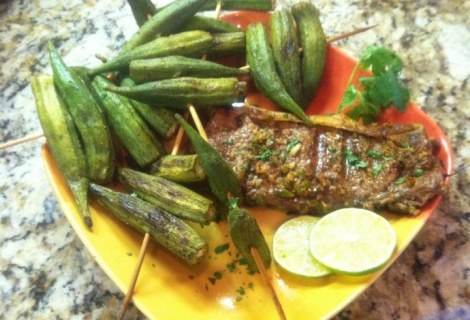 Jalapeno Steak and Okra | Wilma and Betty Recipes | Pinterest