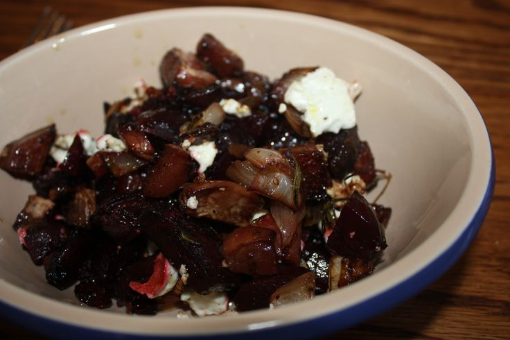 Roasted beets and turnips with balsamic glaze