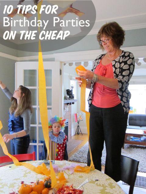 Cheaper birthday party ideas