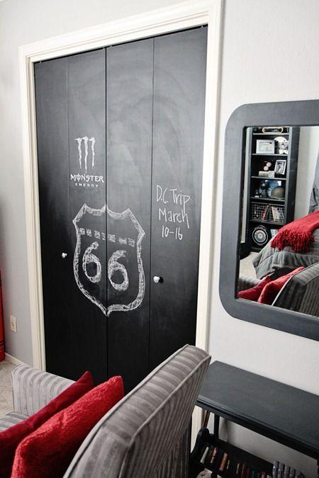 Chalkboard Paint Closet Doors. - 46.0KB