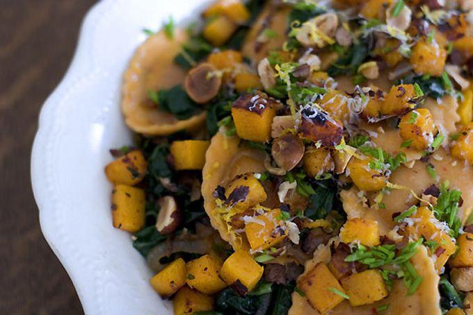 Hazelnut & Chard Ravioli Salad Recipe. I made this as the vegetarian ...