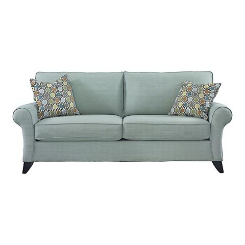 960 sofa bassett furniture seafoam aqua light blue chartruese