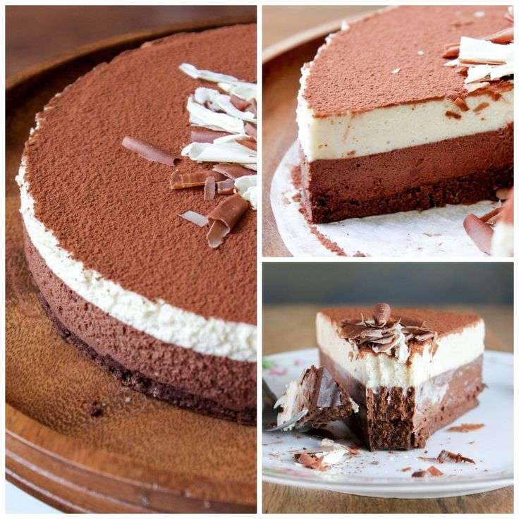 Dark Chocolate and White Coffee Mousse Cake | Recipe