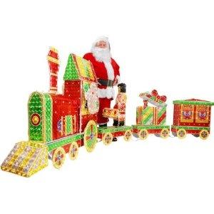 Outdoor christmas train decoration christmas pinterest for Outdoor christmas train decoration
