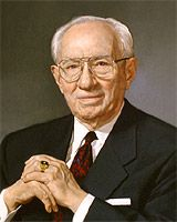 Gordon B. Hinckley - Basic Facts--15th President of the Church of Jesus Christ of Latter-day Saints, served from 1995 until 2008