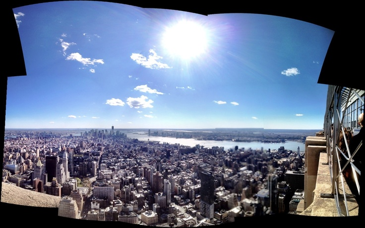 View from the Empire State Bldg, April 2012.