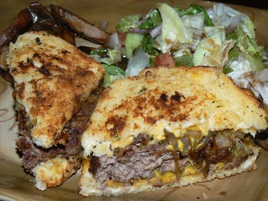 ... Grilled Jalapeno Cheese Bread, Garden Salad, Roasted Fingerling