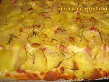 La mia pizza con le patate | la mia cucina | Pinterest