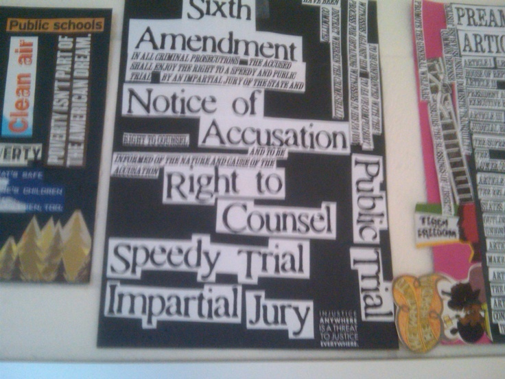 """The Rights of the Accused"" poster."