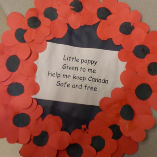 Remembrance Day Wreath Idea