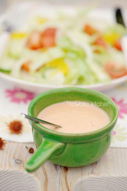 Creamy French Dressing | Ensaladas y aderezos | Pinterest