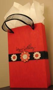 Make a cereal box gift bag.