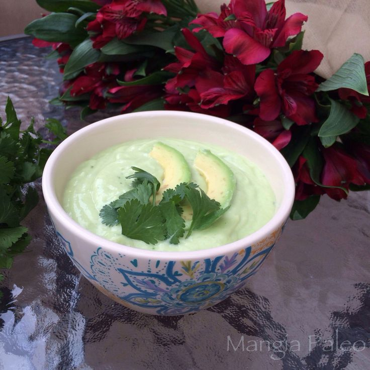 Chilled Cucumber Avocado Soup | When it's nearing soup weather... | P ...